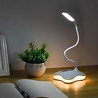 XIAOKOA LED デスクライト デスクランプ ナイトライト付き 目に優しい 3段階明るさ タッチ伝感制御 360度回転可能 USB充電対応 14個高輝度LED 勉強も仕事も快適に!!