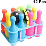 TOYANDONA 12pcs Kids Bowling Set Bowling Game Skittle Ball Toy Bowling Action Game Sports Educational Toy for Home Kindergart