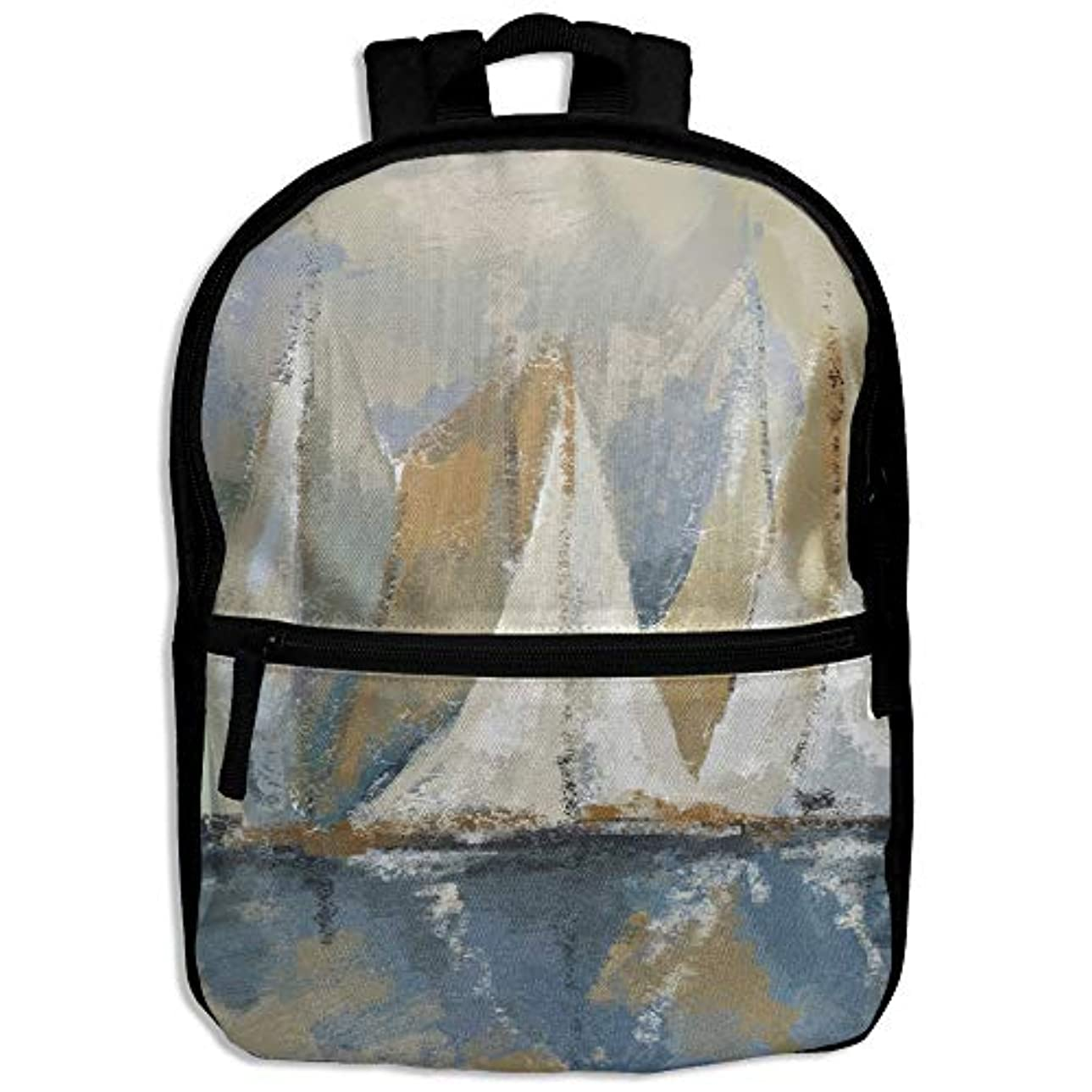 文字対処する父方のキッズバッグ キッズ リュックサック バックパック 子供用のバッグ 学生 リュックサック 水上のヨット アウトドア 通学 ハイキング 遠足