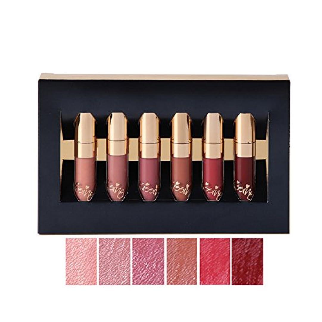 認可定刻収縮Makeup Lipstick Matte Lip Gloss Long-lasting Waterproof Lip Gloss Matt Liquid 6 Color Lipstick Set BEAUTY GLAZED