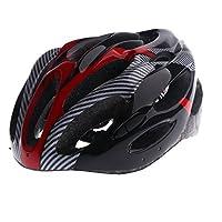 SunniMix 高密度材料 自転車 ヘルメット  マウンテンバイク ヘルメット 超軽量 アダルト ヘッドプロテクター 怪我防止 全3色 - 赤