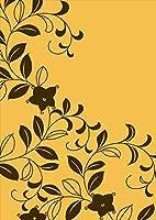 ポスター ウォールステッカー シール式ステッカー 飾り 515×728㎜ B2 写真 フォト 壁 インテリア おしゃれ 剥がせる wall sticker poster pb2wsxxxxx-005319-ds フラワー 花 シンプル ブラウン