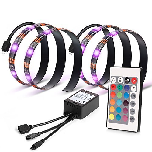 Kohree LEDテープライト テレビ PC照明 リモコン付き USB接続 疲れ目に効く カラフル...