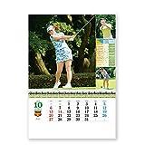 新日本カレンダー 2019年 チャンピオンズゴルフ カレンダー 壁掛け NK129 (2019年 1月始まり)