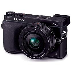 Panasonic デジタル一眼カメラ ルミックス GX7 レンズキット 単焦点レンズ付属 ブラック DMC-GX7C-K