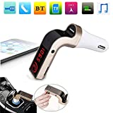 ?G7 ワイヤレス Bluetooth 車ハンズフリー キット FM トランスミッター MP3 プレーヤー無線アダプター ゴールド