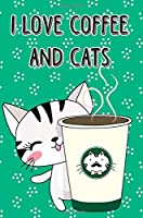 Bullet Journal Notebook Cat with Cup of Coffee - Green: 112 Page Numbered Graph Style Grid Bullet Journal with Index Pages and Key Pages in Portable 6 X 9 Size