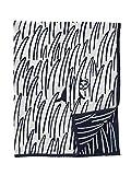KLIPPAN(クリッパン)×mina perhonen(ミナ ペルホネン) コットンブランケット 2CATS ネイビー シングル 140×180cm [並行輸入品]