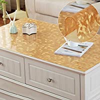 QYM 長方形の熱い鋼鉄をきれいにするポリ塩化ビニールの防水透明なテーブルクロスのコーヒーテーブルのテーブルテーブルテーブル (Color : D, サイズ : 80*130cm)