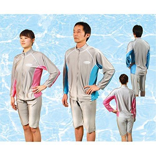 着たまま泳げる UVカット スイム ハーフパンツ グレー L...