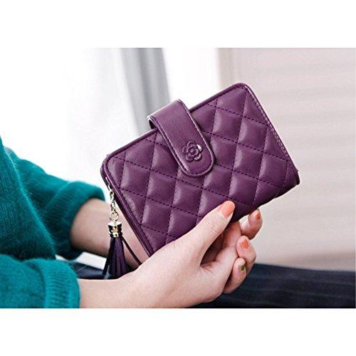 6 色 レディース 女の子 財布 二つ折り 小銭入れ 高級 ...