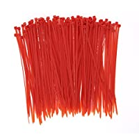 ColoredケーブルタイZip Tiesグリーンブラウンイエローレッドパック レッド Colorful Cable Ties--Red-3.6*200*150