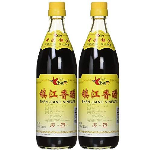 ロウバ 鎮江香酢 ((中国黒酢) 550ml×2個 人気中国香酢