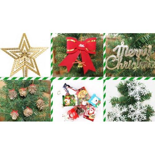 クリスマスツリー お買い得セット150cm グリーン Christmas tree green ツリー クリスマスグッズ 150センチ オリジナルツリー ヌードツリー