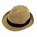 (エッジシティー)EdgeCity 折りたたみ可能 大きいサイズ メンズ 麦わら帽子 ストローハット LL 63cm 000319-0021-63-