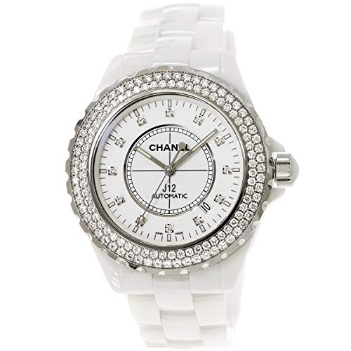 6617a17a2915 中古)シャネル CHANEL J12 H2013 42mm ベゼルダイヤ メンズ 腕時計 ホワイト セラミック オートマ 自動