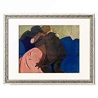 フェリックス・ヴァロットン Felix Edouard Vallotton 「Le baiser」 額装アート作品
