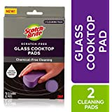 Scotch-Brite Glass Cooktop Cleaner Pads, Multi-Color, 2 Pads