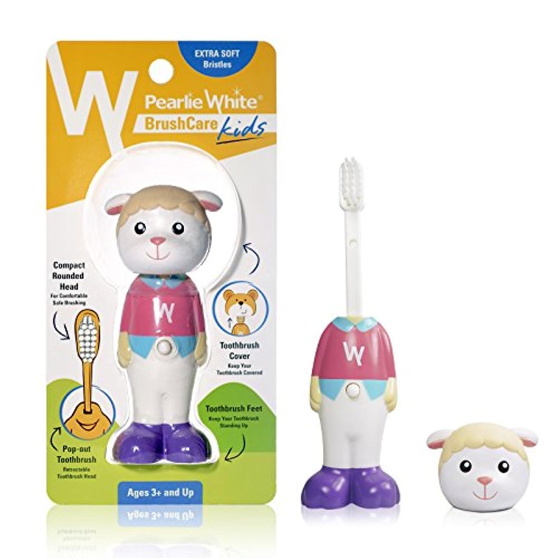 ポータブル容器にはまってPearlie White(パーリーホワイト) ブラシケア キッズ SHEEP(ヒツジ) (1本)