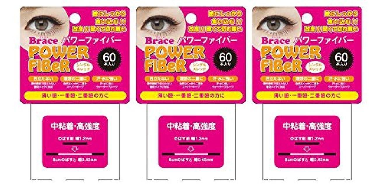 リンス他の日サイトラインBrace ブレース パワーファイバー クリア 1.2mm (眼瞼下垂防止用テープ) 3個セット シングルスレッド