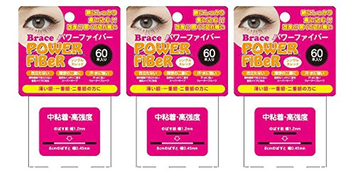 里親手綱二週間Brace ブレース パワーファイバー クリア 1.2mm (眼瞼下垂防止用テープ) 3個セット シングルスレッド