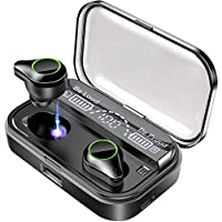 Bluetooth イヤホン 最新bluetooth 5.0+EDR搭載 低音重視 ステレオ 自動ペアリング マイク内蔵 CVC8.0ノイズキャンセリング 4000mAh IPX7防水 電池残量インジケーター付き 完全ワイヤレス ブルートゥース イヤホン Hi-Fi 高音質 AAC対応 ステレオ 両耳 左右分離型