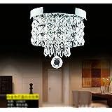 Modern LED Ceiling Lights Pendant Fixture Lighting Crystal Chandeliers (15W White Light)