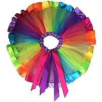 PIXNOR Girl's Children Kids Laye Rainbow Tutu Skirt