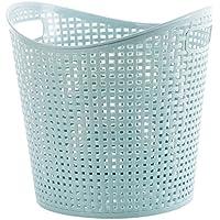 WTL かご?バスケット ホームストレージバスケットポータブルプラスチックFoldableおもちゃストレージバスルーム汚れた服のバスケット家庭用クリーニング (色 : B)