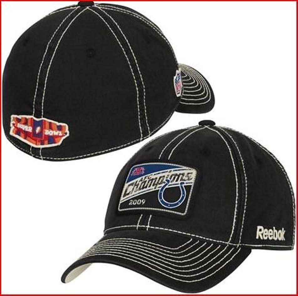 プライバシー反対腸Indianapolis Colts 2009 / 2010 AFC Conference Champions W / Super Bowl 44ロゴLocker Room帽子