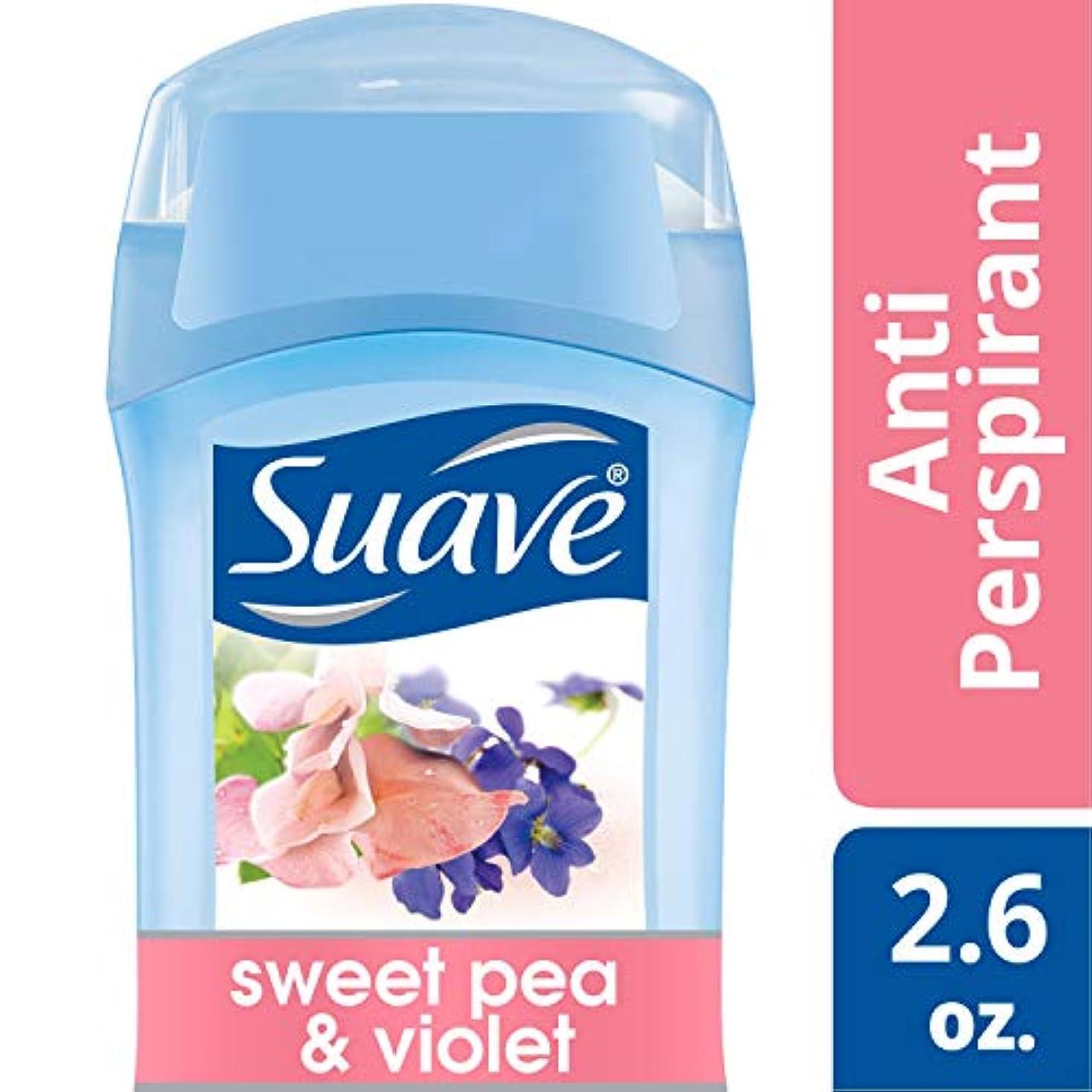 インターネット故国ひねりSuave Invisible Solid Anti Perspirant & Deodorant Sweet Pea & Violet 75g (並行輸入品)