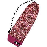 nokduk バドミントン専用ラケットケース  ファンシーシリーズ 『ポーラーベア?花園 レッド』 スマートでコンパクト(2本可)。丁寧な縫製。