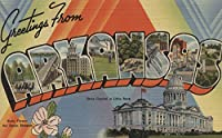 Greetings from Arkansas ( State Capitalシーン) 24 x 36 Giclee Print LANT-6771-24x36