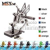 MSX-moto 可倒式 調整型 CNC アジャスタブル バックステップ 適応 Aprilia RS125 1996 1997 1998 1999 2000 2001 2002 2003 2004 2005 2006 灰/グレー