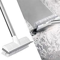 KMAKII デッキブラシ 浴室掃除用ブラシ フロアスクラブブラシ タイルブラシ 伸縮タイプ ベランダ・玄関のための床ブラシ 庭園にも適用 大きなサイズブラシ ブラシヘッド幅は23cm 長さ調節可能(39-115cm)