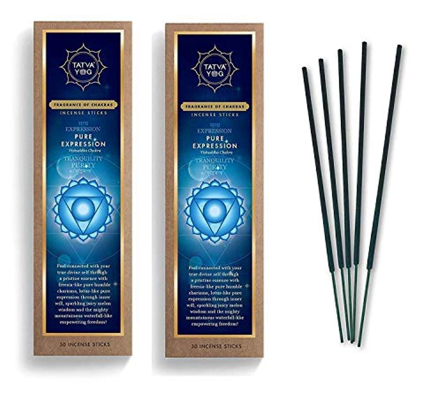 突撃スコットランド人主権者Pure Expression Long Lasting Incense Sticks for Daily Pooja|Festive|Home|Scented Natural Agarbatti for Positive Energy|Good Health & Wealth (Pack of 2 | 30 Sticks Per Pack)