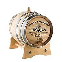PersonalizedテキーラOak Barrel  カスタム彫刻AmericanホワイトオークAgingバレル–Age Your Ownテキーラ、ウイスキー、・ラム、ワイン、ビール、酢。。。 1 Liter