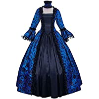 Wraith of East Medieval Queen Vitorian Dress Gothic Lace Bell Sleeve Ball Gown Renaissance Royal Fancy Masquerade Vampire Costume