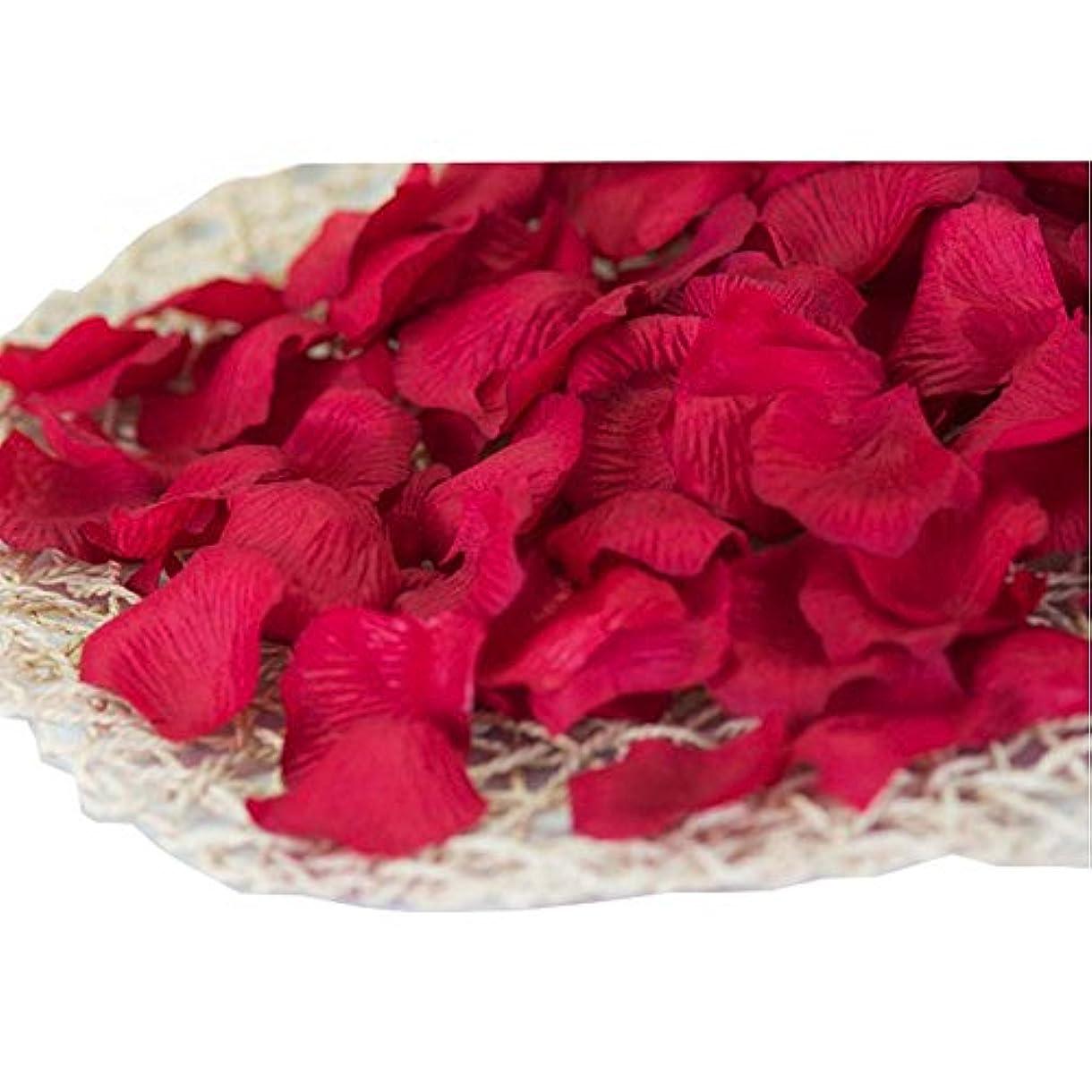 若い分析的心配する840の結婚式のための暗赤色の人工ローズフラワーの花びら