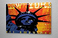 M.A. Allen Retro Tin Sign ブリキ看板 metal plate U.S. Deco New York Statue of Liberty n