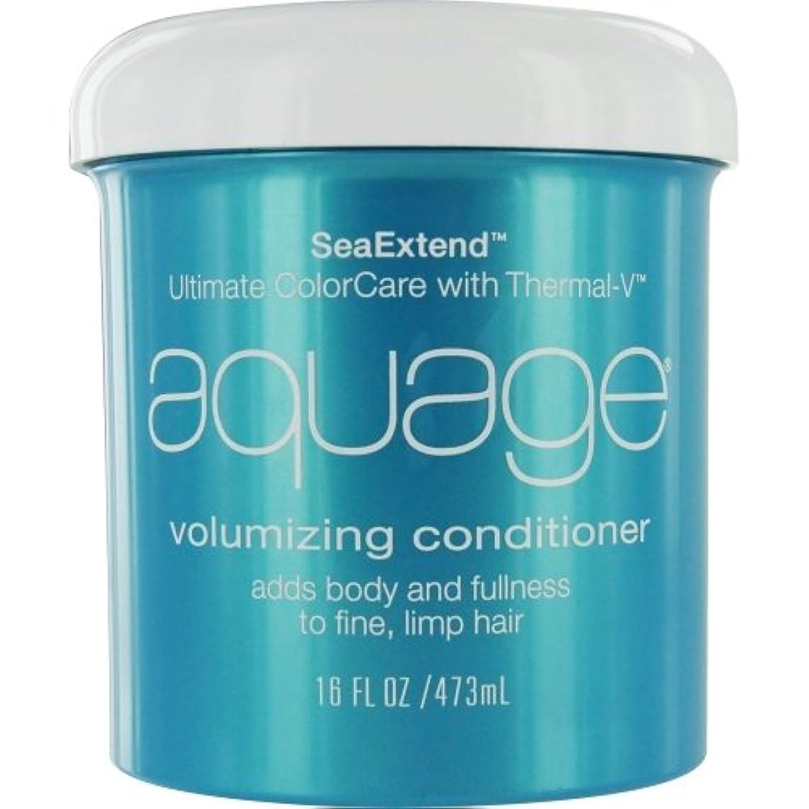 パフ修正する感謝by Aquage SEA EXTEND VOLUMIZING CONDITIONER FOR FINE HAIR 16 OZ by AQUAGE
