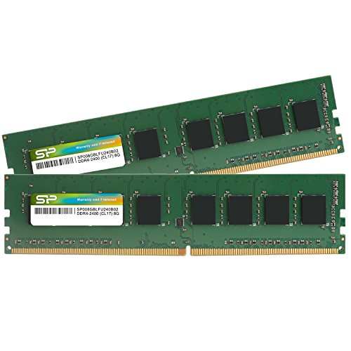 シリコンパワー デスクトップPC用メモリ DDR4-2400(PC4-19200) 8GB×2枚 288Pin 1.2V CL17 永久保証 SP016GBLFU240B22