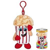 Whiffer Sniffers Carl Mel Corn Caramel Popcorn Scented Plush Backpack Clip, 4.5 in [並行輸入品]