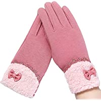 WUXiaodanDan Women's touch screen gloves outdoor driving gloves warm gloves winter riding cotton gloves