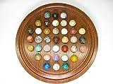Natural Stones ソリティア 紫檀 丸玉 16mm(天然石のボードゲーム・知育・脳トレ)