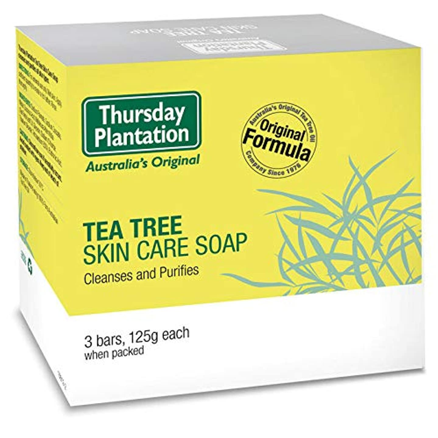 【殺菌、清潔 、ニキビ、吹き出物】 ティーツリー スキンケア ソープ 125g 3個セット Thursday Plantation オーストラリア産