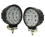 Amazon.co.jpAmilliastyle LED作業灯 ワークライト サーチライト 42W 12V 24V 広角 14連 防水 1年保証 2個入り(42W-R*2)