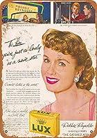 なまけ者雑貨屋 Debbie Reynolds Lux Soap ブリキ看板 壁飾り レトロなデザインボード ポストカード サインプレート 【20×30cm】