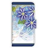 Coyura Huawei Ascend HW-01E ケース 手帳型 UVプリント手帳 clematis (cyt-004) スマホケース ファーウェイ アセンド 手帳 カバー 全機種対応 WN-LC524349_M