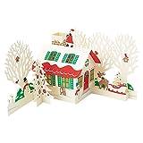 サンリオ クリスマスカード 洋風 立体 お家にサンタと木々 S7166